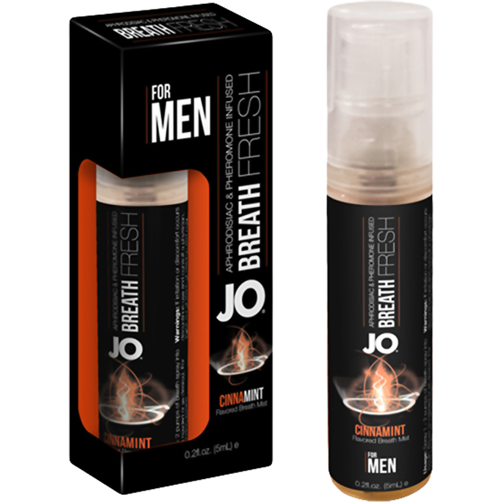 JO for MEN Breath Fresh Mist with Pheromone 0.2 Fl.Oz 5 mL Cinnamint Display of 12 - View #1