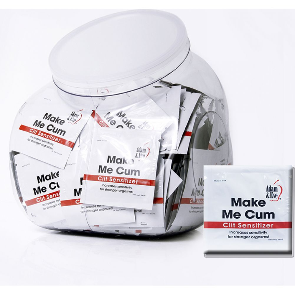Adam and Eve Make Me Cum Clit Sensitizer for Women Jar of 144 Pcs - View #1