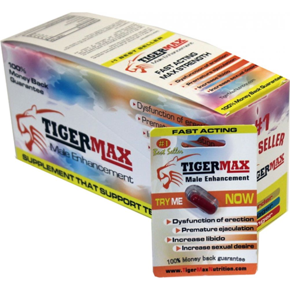 Tiger Max Male Enhancement 1 Count 24 Piece Display - View #1
