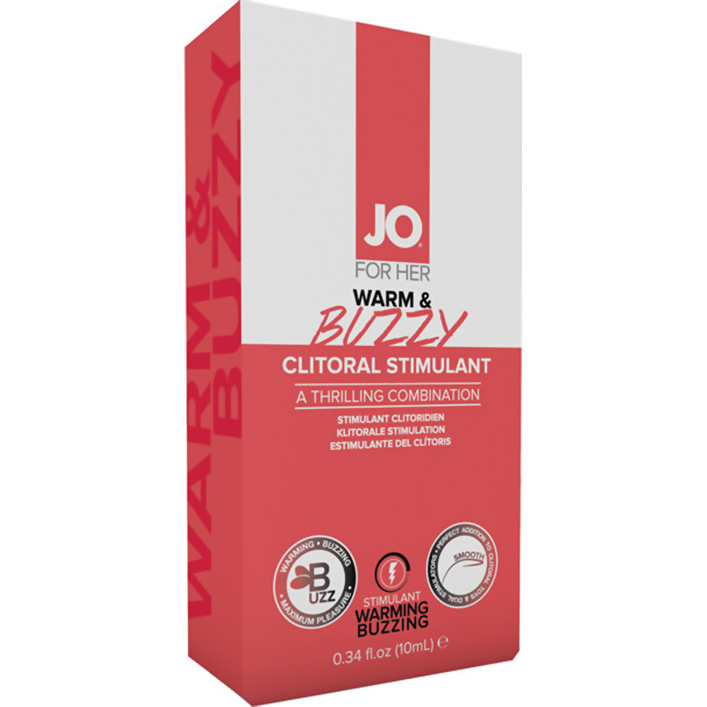 JO for Her Warm and Buzzy Clitoral Stimulant Cream 0.34 Fl.Oz 10 mL Tube - View #1