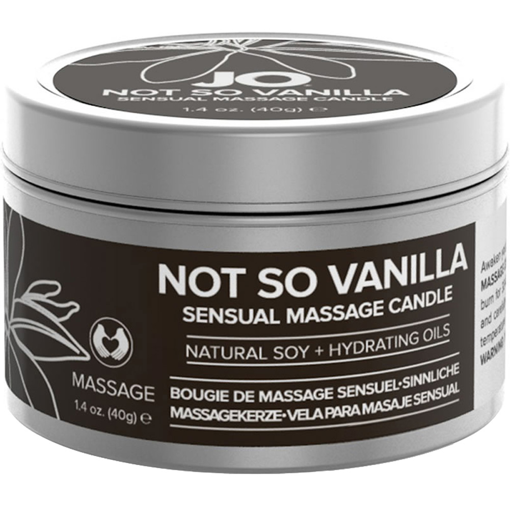 System JO Not so Vanilla Soy Sensual Massage Candle 1.4 Ounce 40 G - View #1