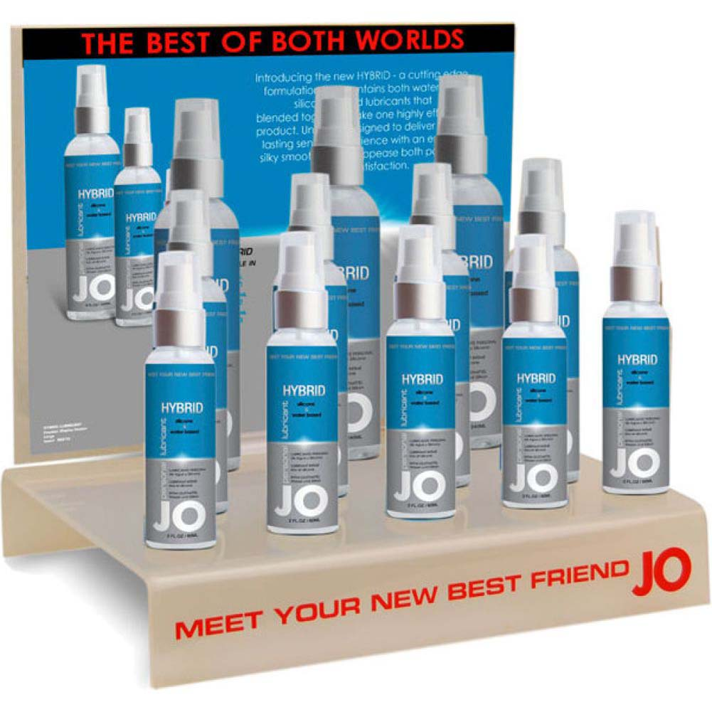 System Jo Hybrid Water and Silicone Based Lubricant12 Piece Display Case 1 Fl. Oz. Each - View #1