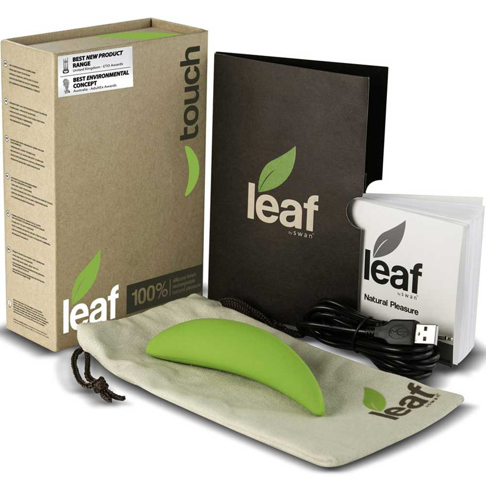 "BMS Touch by Leaf Vibrator 5"" Green - View #1"
