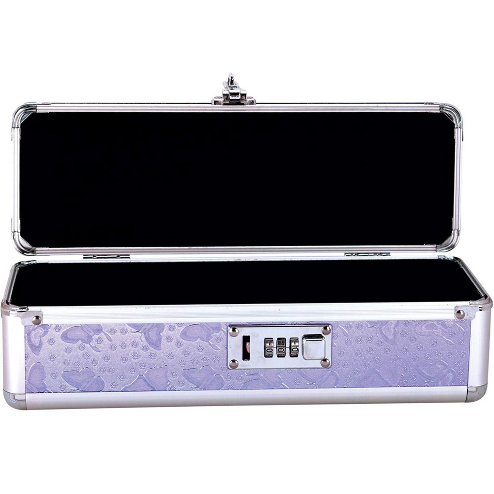 BMS Factory Lockable Vibrator Storage Case Small Purple - View #1