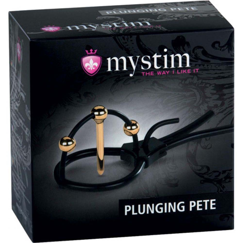 Mystim Plunging Pete with Corona Strap and Urethral Sound Black - View #4