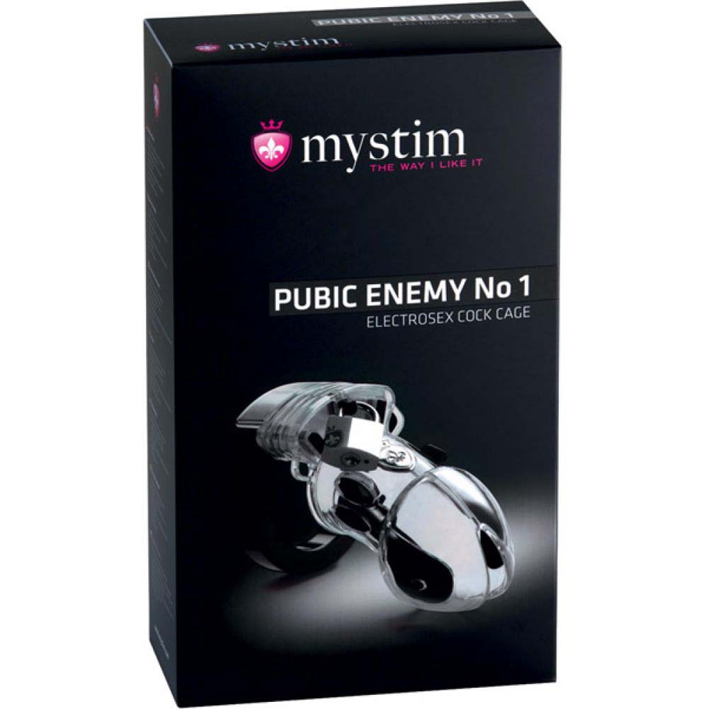 Mystim Pubic Enemy Number 1 Cock Cage Silver - View #1