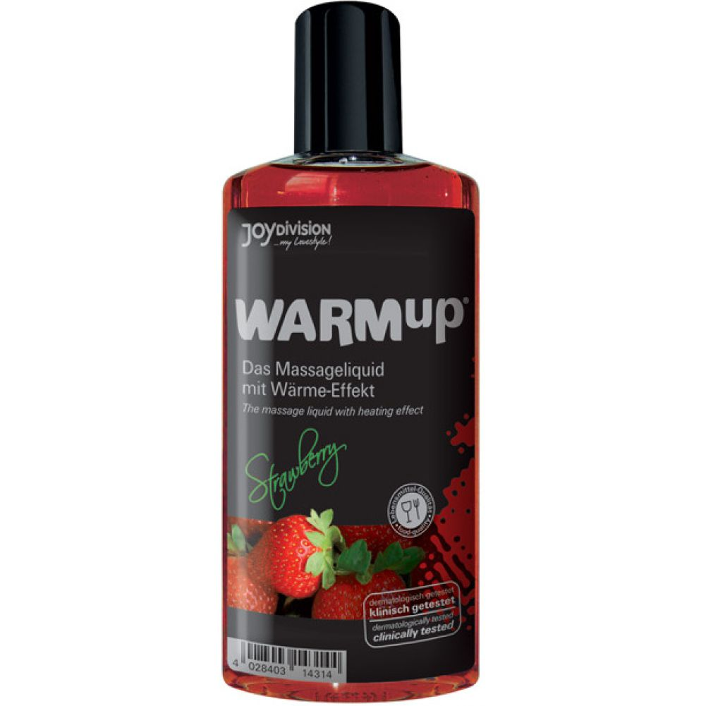 Joydivision Warmup Massage Oil with Heating Effect 5 Fl.Oz 150 mL Strawberry - View #1