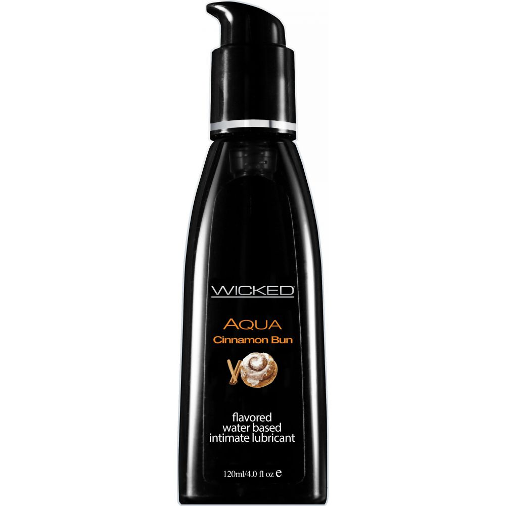 Wicked Sensual Care Collection Aqua Waterbased Lubricant 4 Oz Cinnamon Bun - View #1