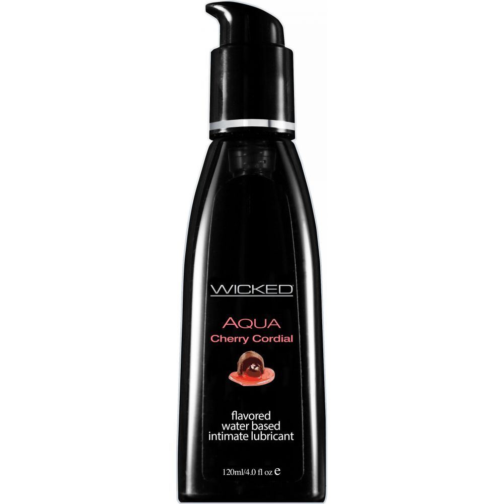 Wicked Aqua Flavored Water Based Intimate Lubricant 4 Fl.Oz 120 mL Cherry Cordial - View #1