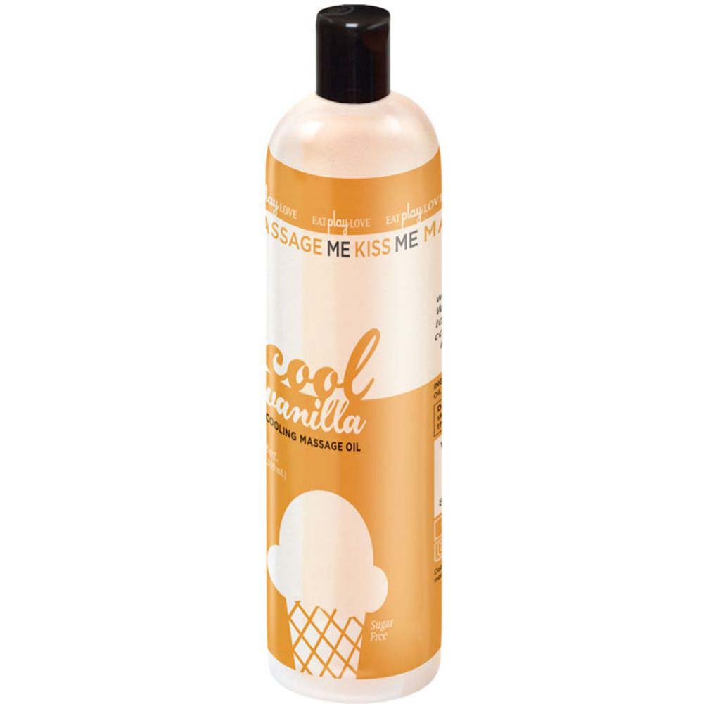 Massage Me Edible Cooling Oil Vanilla 8 Fl.Oz 240 mL Cool Vanilla - View #1