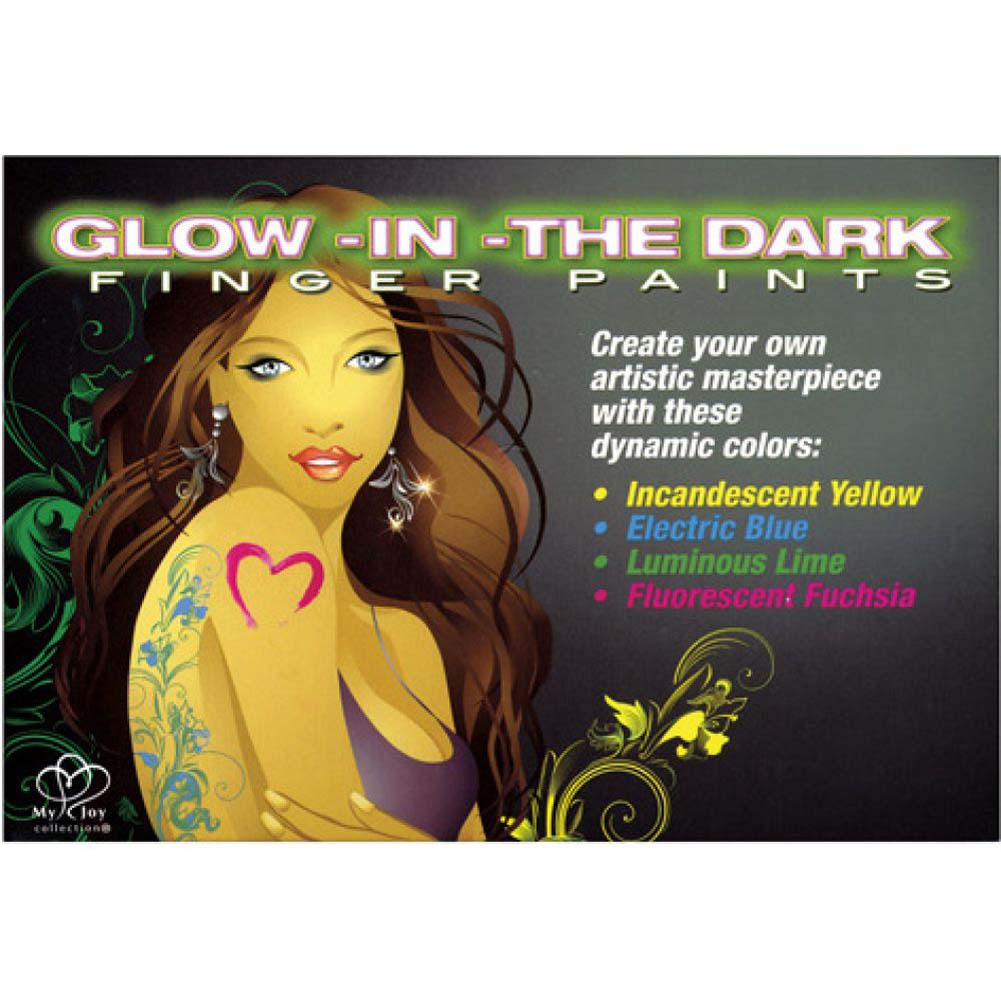 Body Art Glow-in-the-Dark Finger Paints - View #2