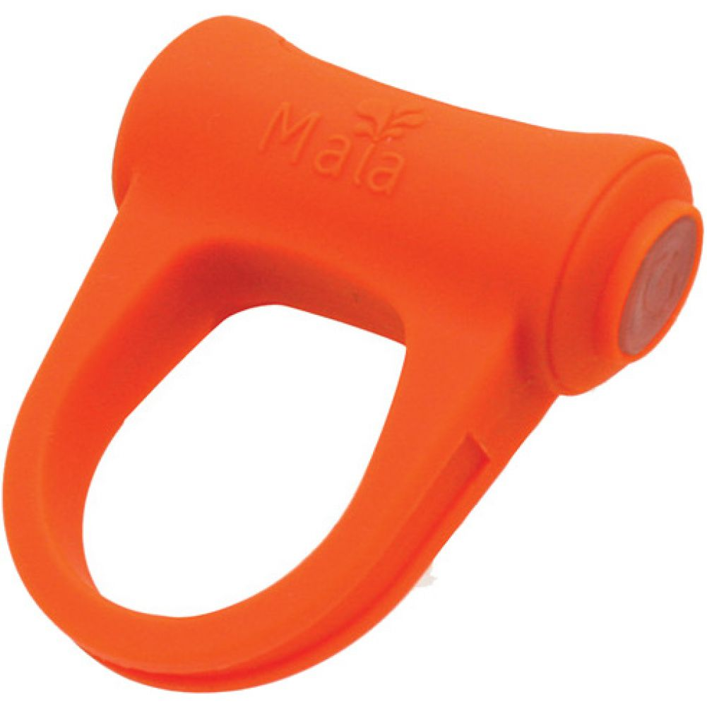 Logan Rechargeable Vibrating Ring Orange - View #2