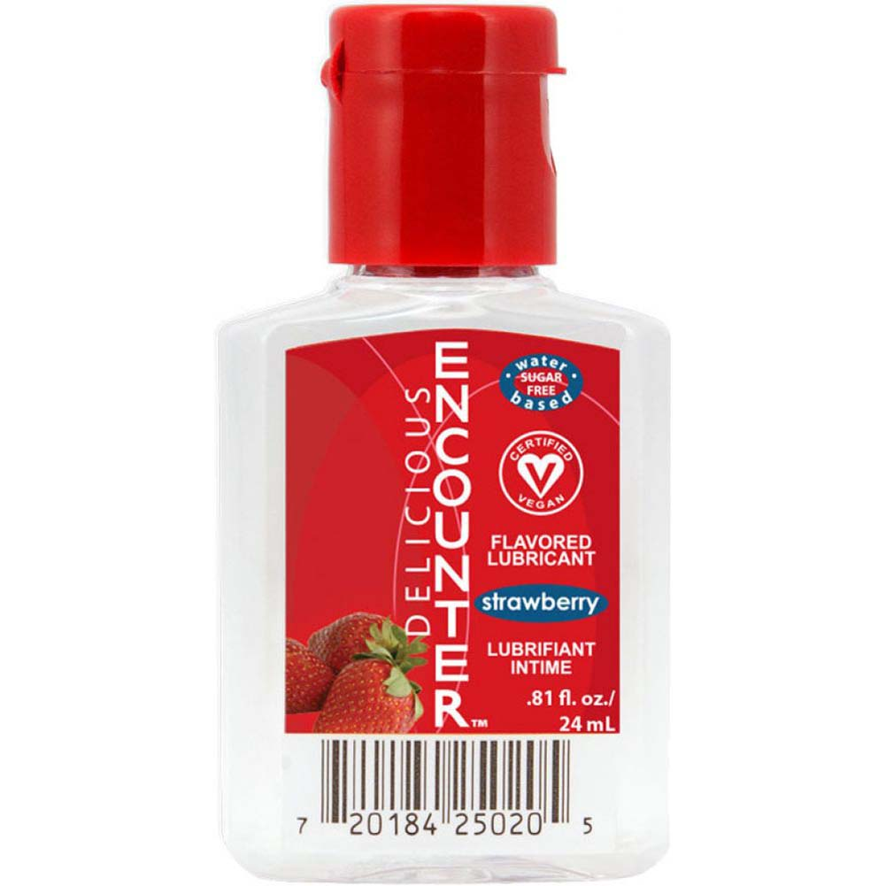 Delicious Encounter Flavored Water Based Lubricant 0.81 Fl.Oz 24 mL Strawberry - View #1