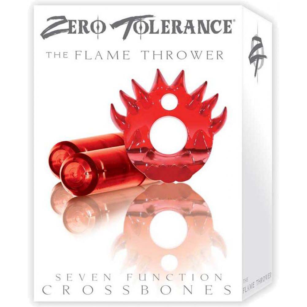 Zero Tolerance Flame Thrower Vibrating Cock Ring Red with 2 - View #1