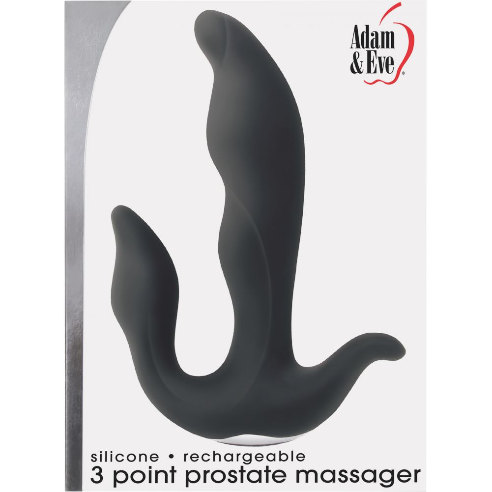 Adam and Eve 3 Point Prostate Silicone Massager - View #1