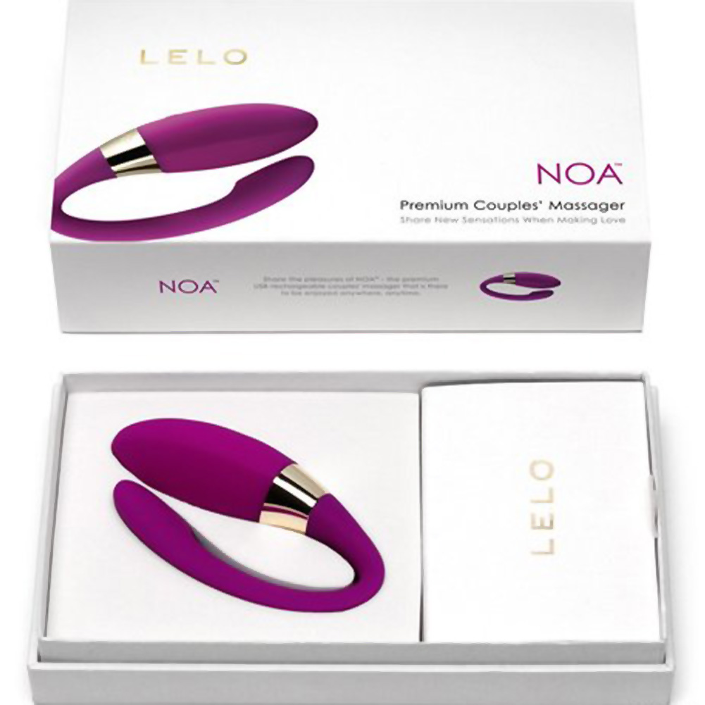 Lelo Insignia Noa Intimate Stimulator for Couples Deep Rose - View #4