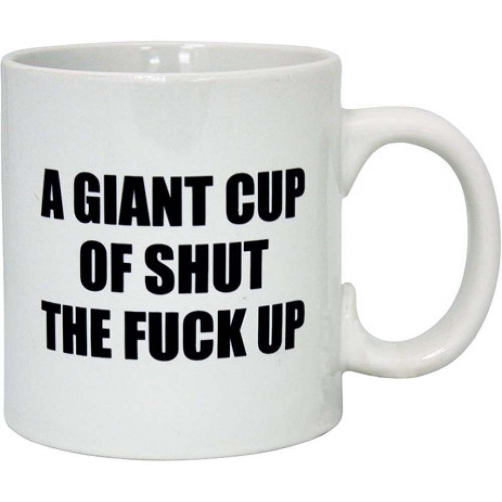 Island Dogs Attitude Mug A Giant Cup of Shut the Fuck Up 22 Fl. Oz. 650 mL Coffee Mug - View #1