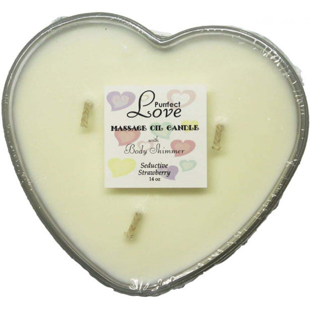 Purrfect Love Massage Oil Candle with Body Shimmer Strawberry - View #1