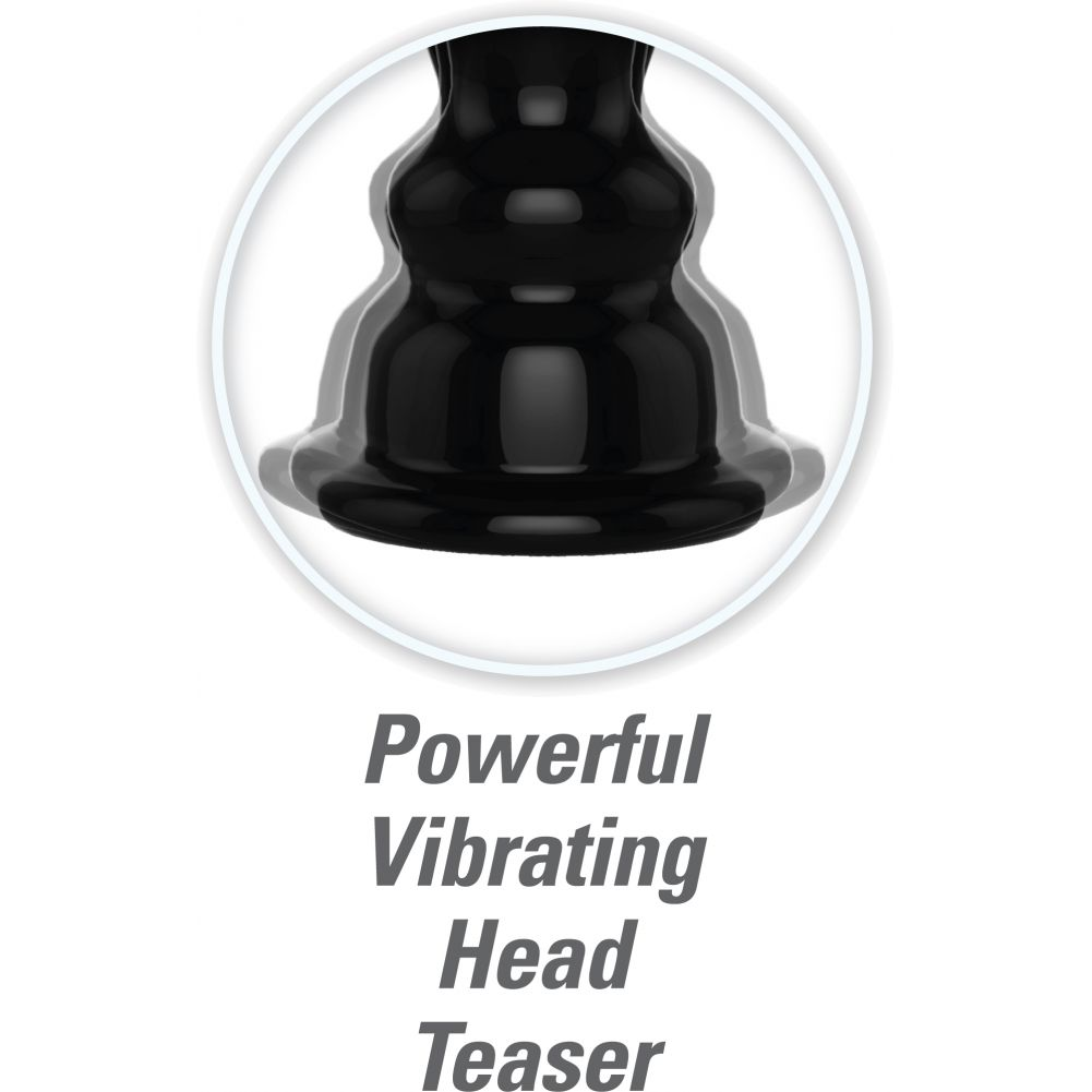 "Pump Worx Ultimate Head Job Vibrating Pump Clear 8.8"" - View #4"