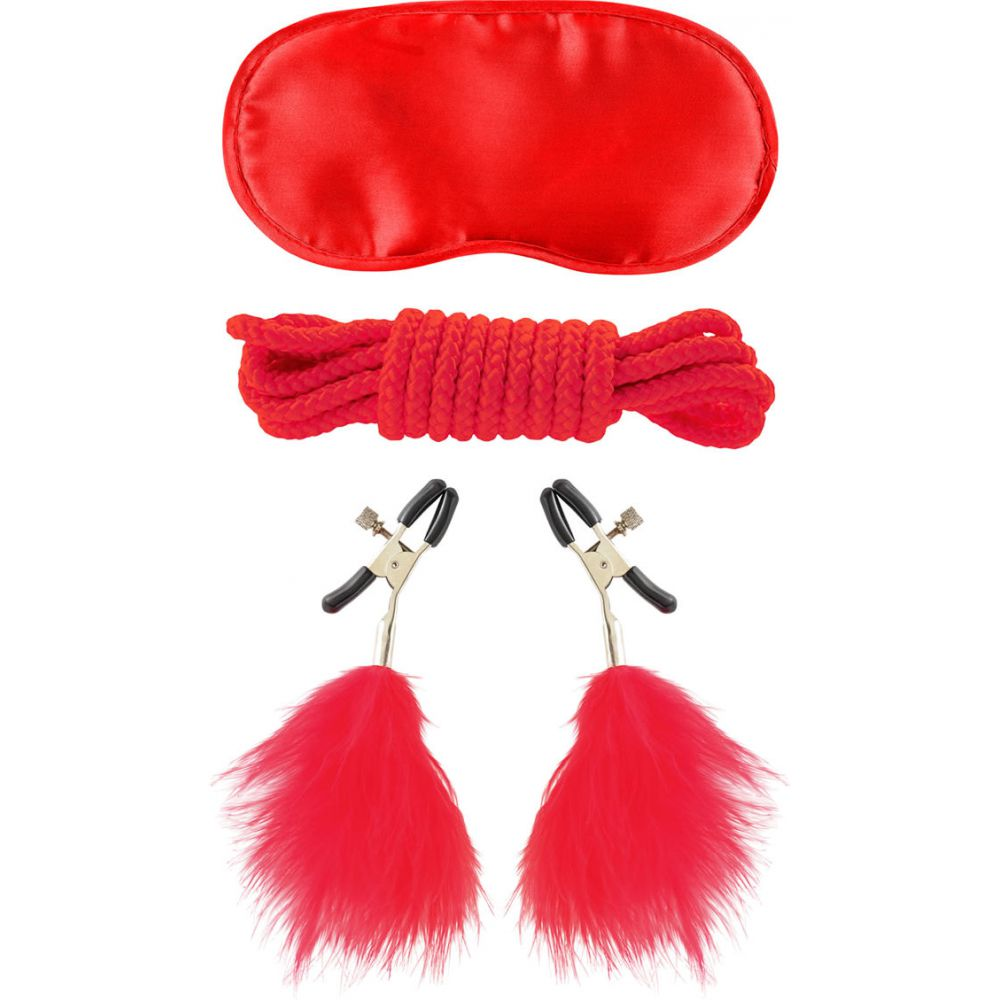 Fetish Fantasy Limited Edition LoverS Bondage Kit Red - View #2