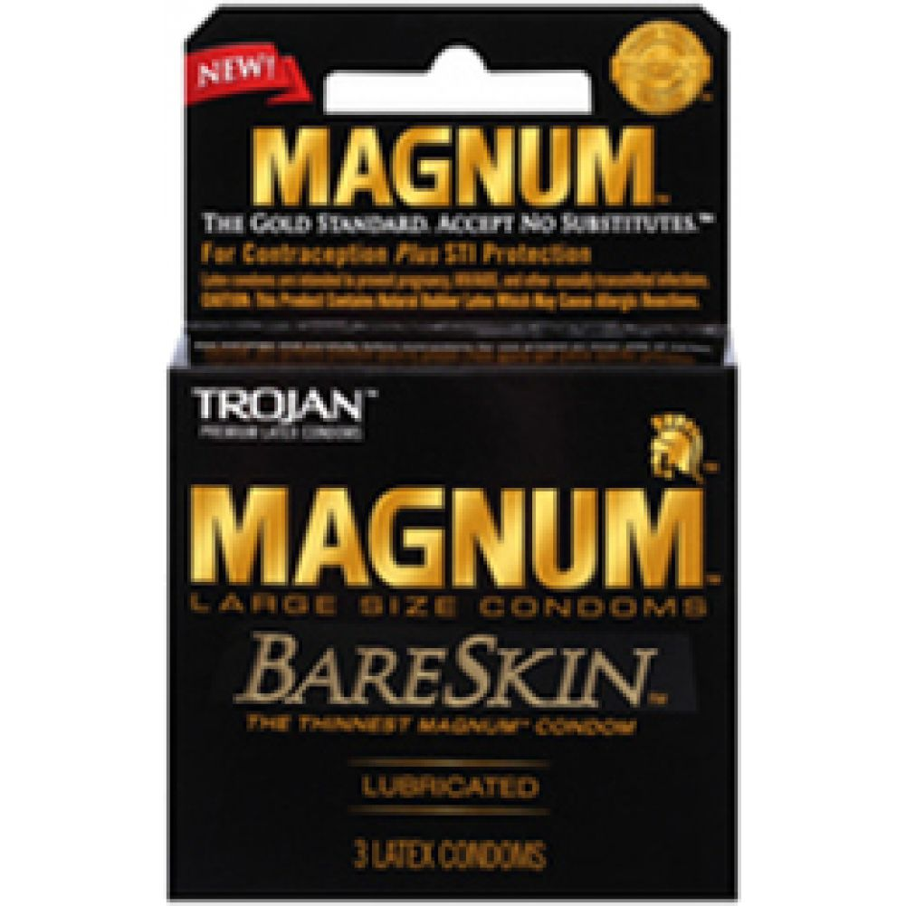 Trojan Magnum Bareskin Large Size Condoms 3 Piece Pack - View #1