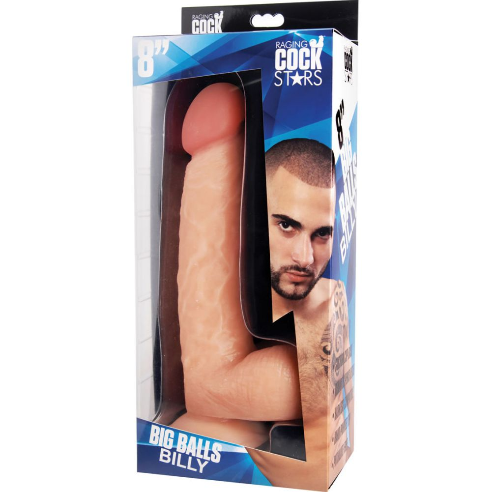 "Raging Cockstars Big Balls Billy Realistic Dildo 10.25"" Flesh - View #1"