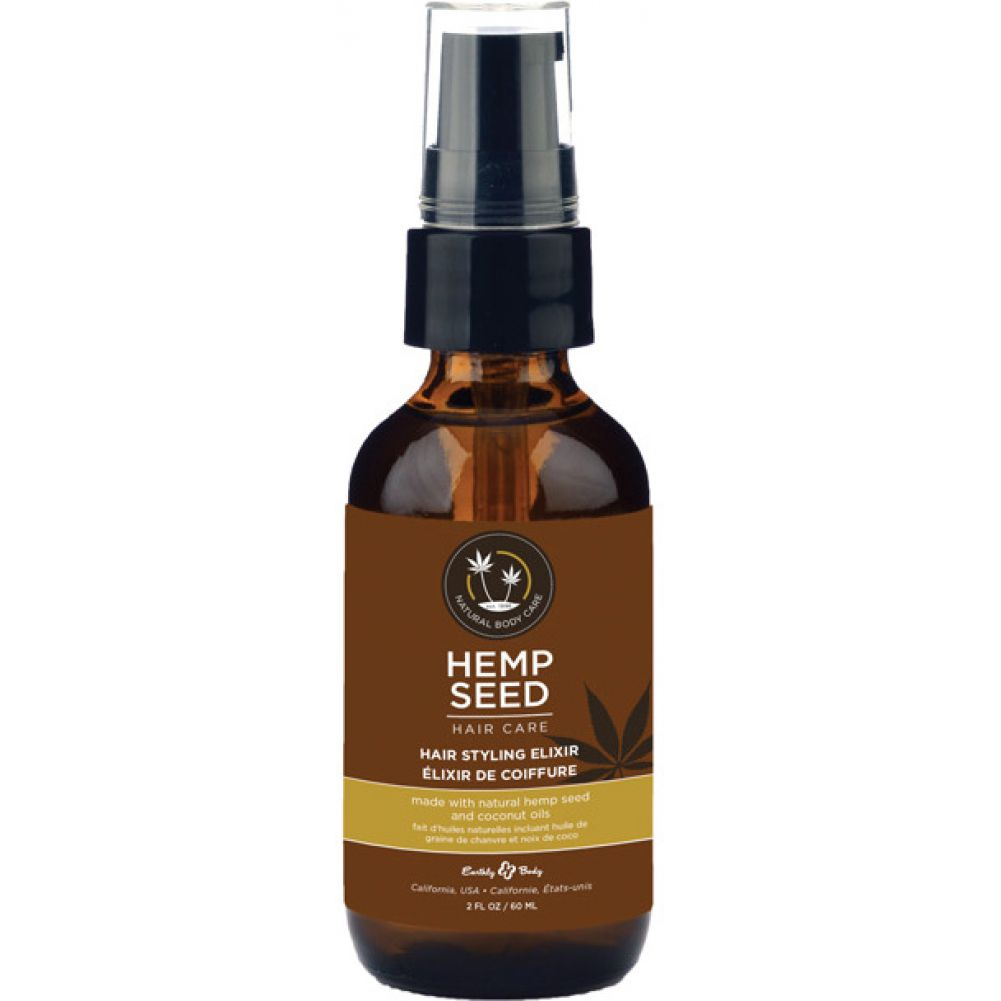 Earthly Body Hemp Seed Hair Styling Elixir 2 Fl.Oz 60 mL - View #1