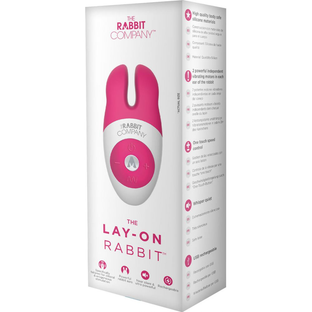 "Rabbit Company Lay On Rabbit Personal Vibrator 4.5"" Hot Pink - View #1"