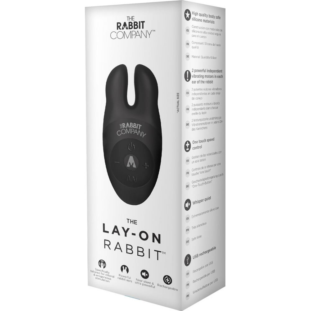 "Rabbit Company Lay On Rabbit Personal Vibrator 4.5"" Black - View #1"
