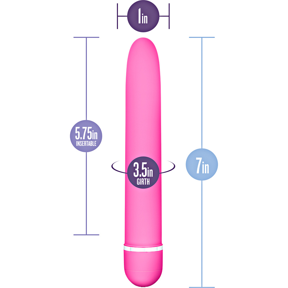 "Blush Rose Line Luxuriate Sensual Vibrator 7"" Pink - View #1"