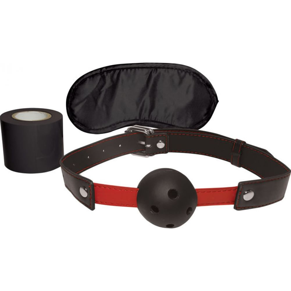 Sportsheets Sex and Mischief Bondage Essentials Kit RedBlack - View #2