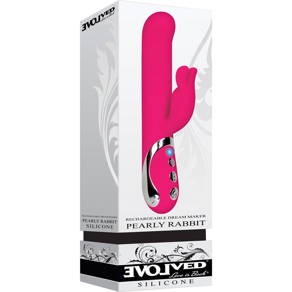 "Evolved Novelties Dream Maker Pearly Rabbit Vibrator 8.5"" 21.5 Cm Hot Pink - View #1"