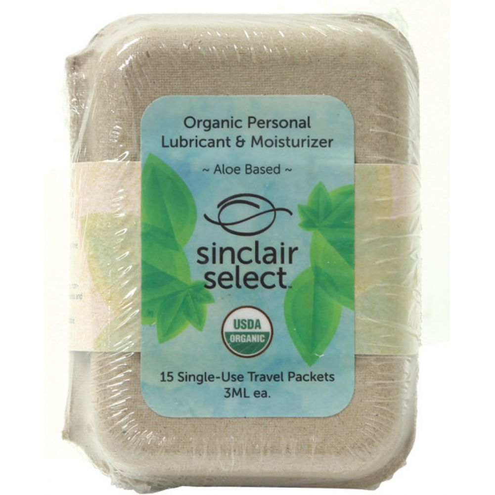 Sinclair Select USDA Certified Organic Lubricant and Moisturizer 15 Piece Pack 3 mL Each - View #1