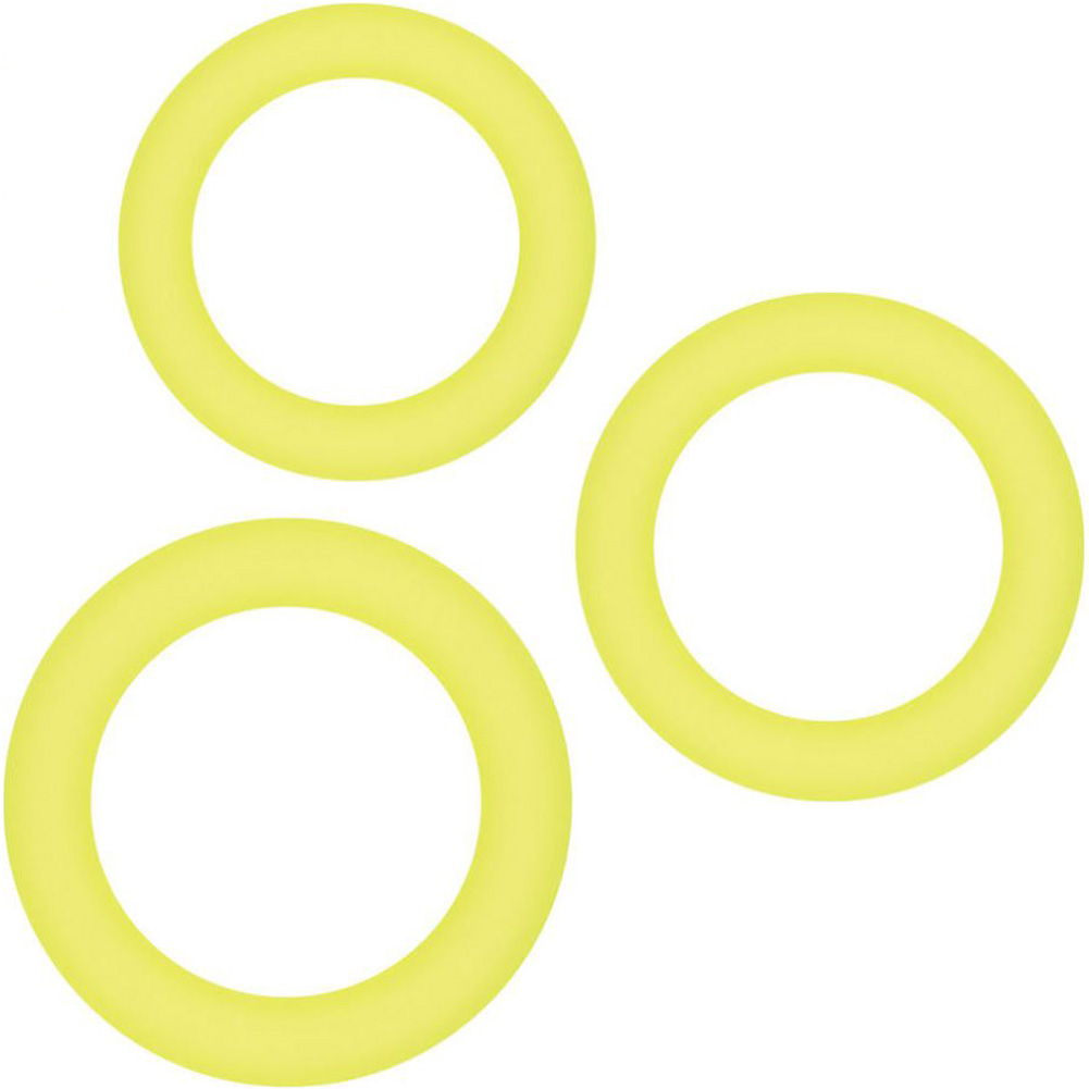 NS Novelties Renegade Diversity Silicone Cock Rings Yellow - View #2