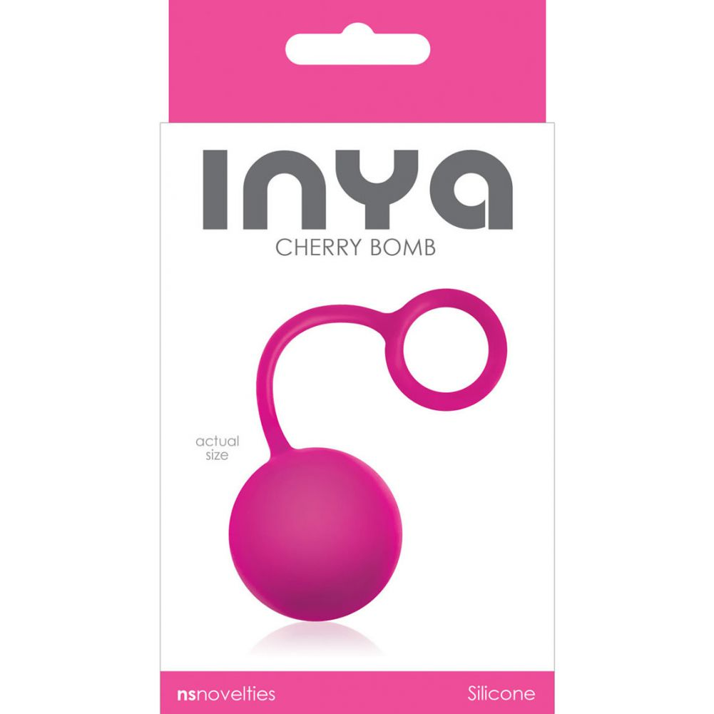 NS Novelties Inya Cherry Bomb Silicone Weighted Ball Pink - View #1