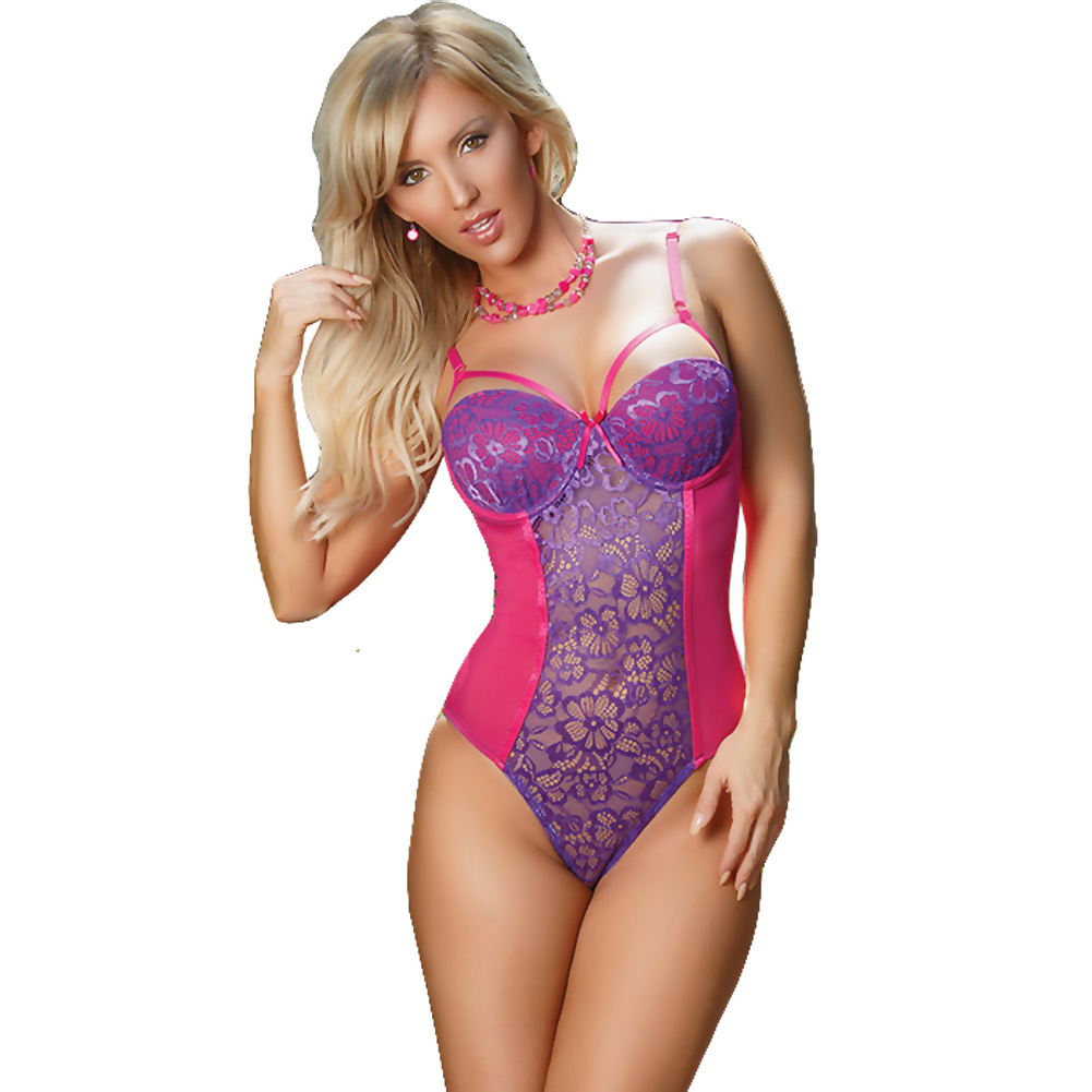 Sheer Passion Teddy W Snap Crtch Purple Extra Large - View #1