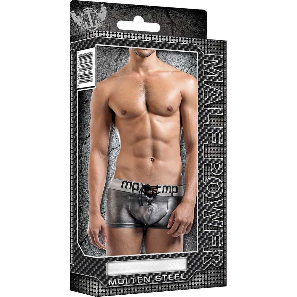 Male Power Molten Steel Lace Up Short Grey Large - View #3