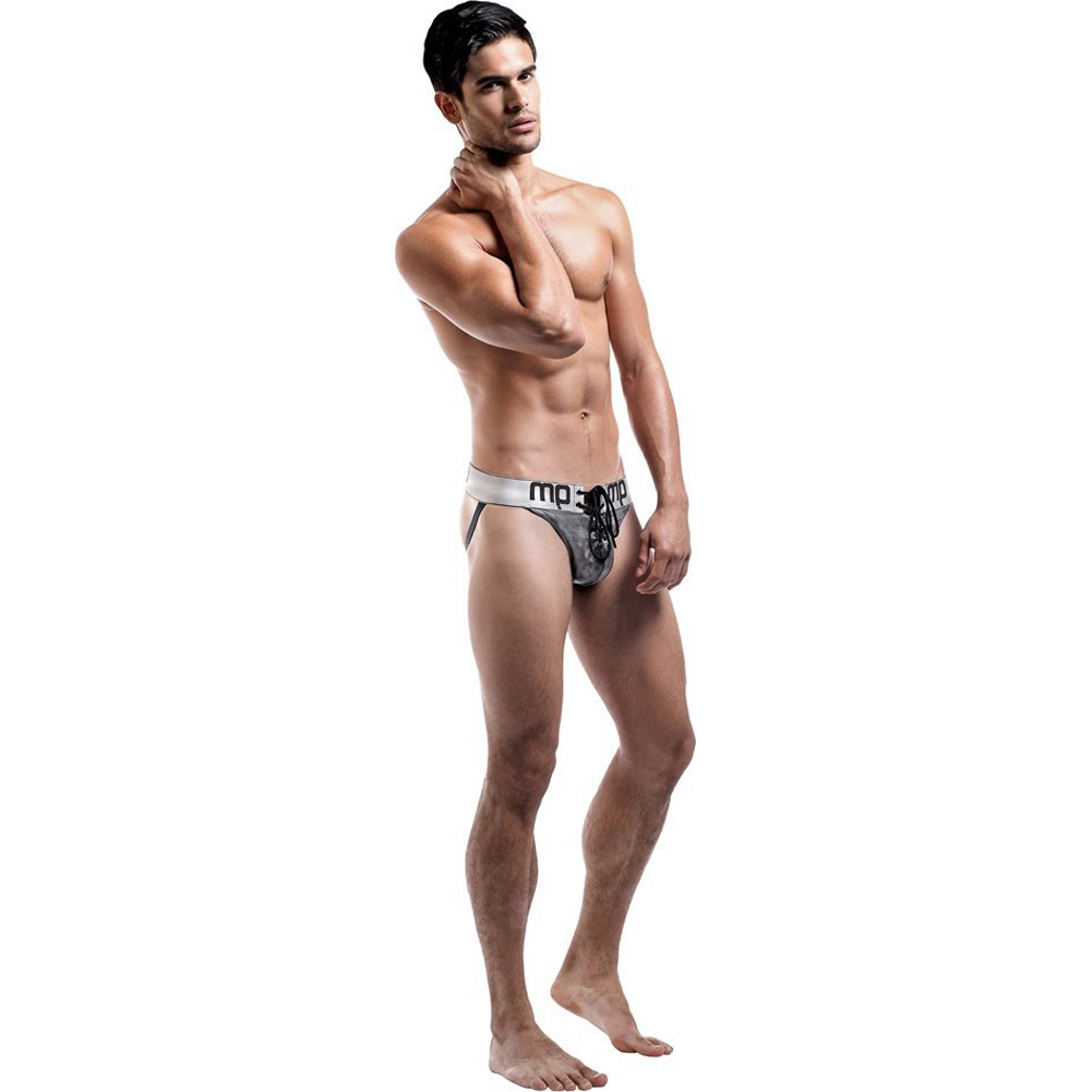 Male Power Molten Steel Lace Up Jock Small/Medium Grey - View #3