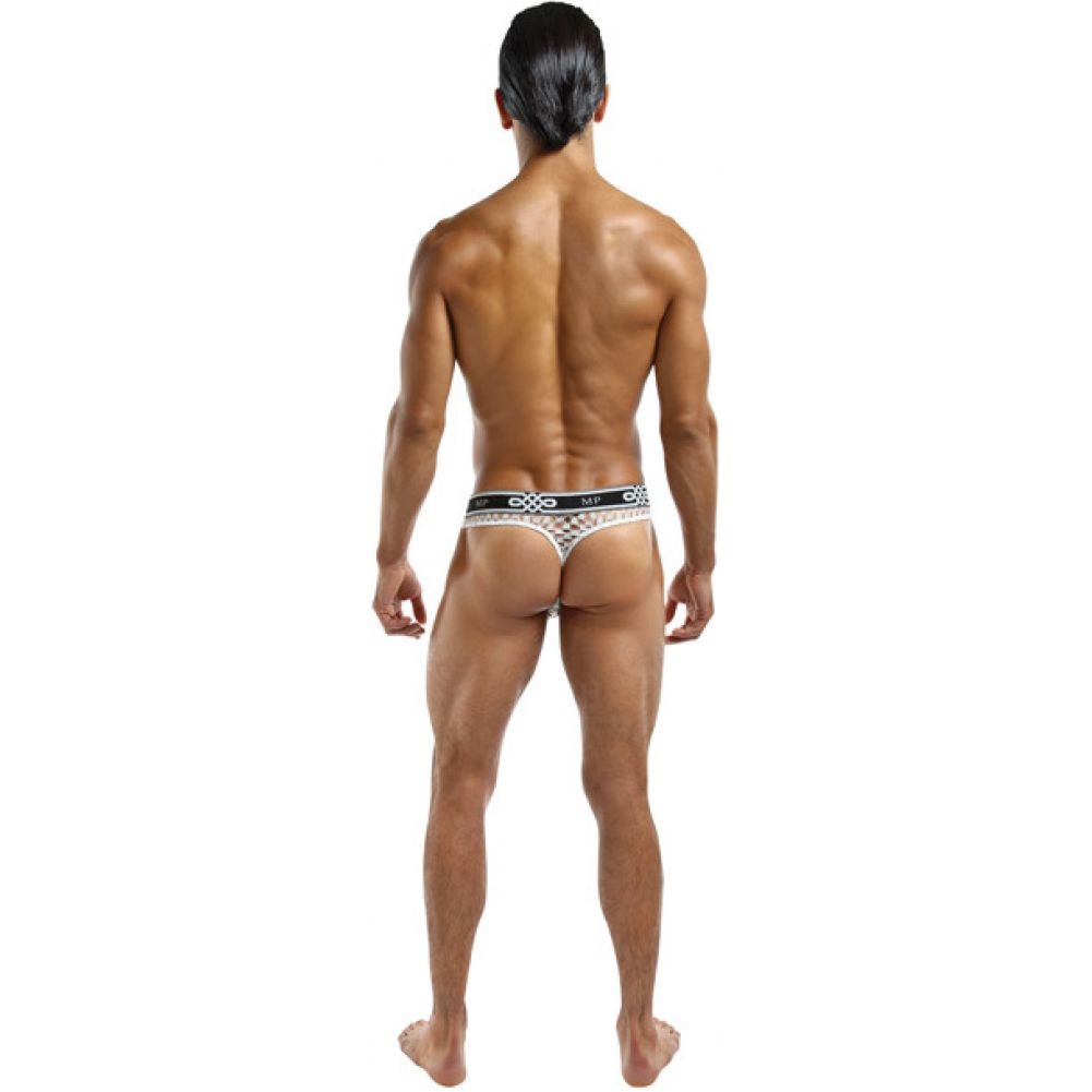 Male Power Lo Rise Thong Small/Medium White - View #2