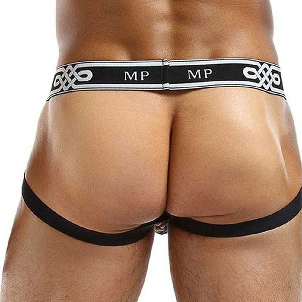 Male Power See Through Ring Jock Small/Medium Black - View #2