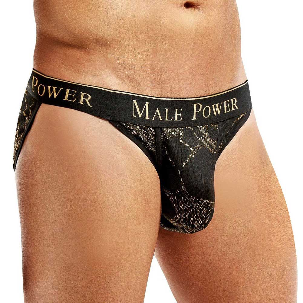 Male Power Enrichment Bikini Large Black Gold - View #1