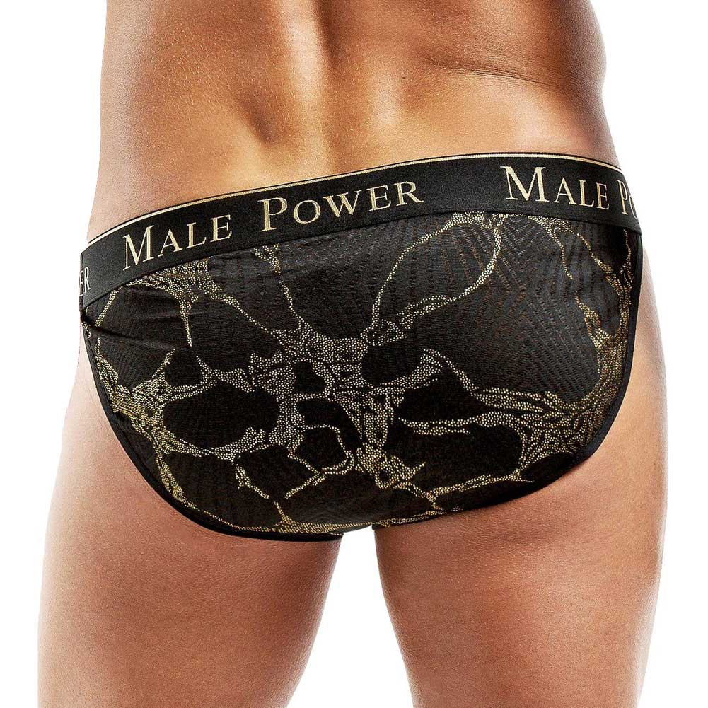 Male Power Enrichment Bikini Extra Large Black Gold - View #2