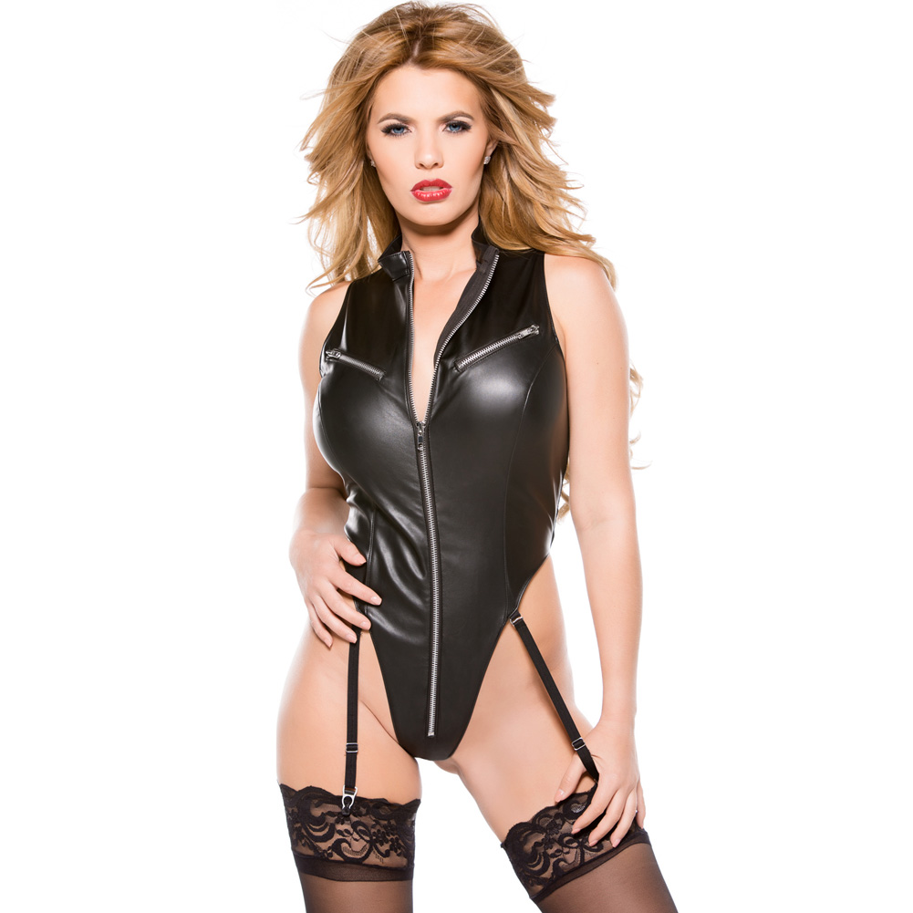 Faux Leather Teddy Black Small - View #1
