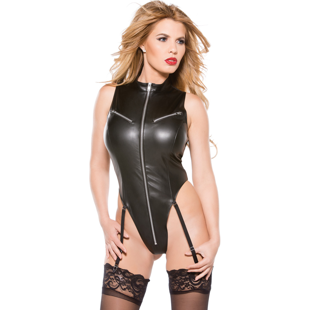Faux Leather Teddy Black Small - View #3