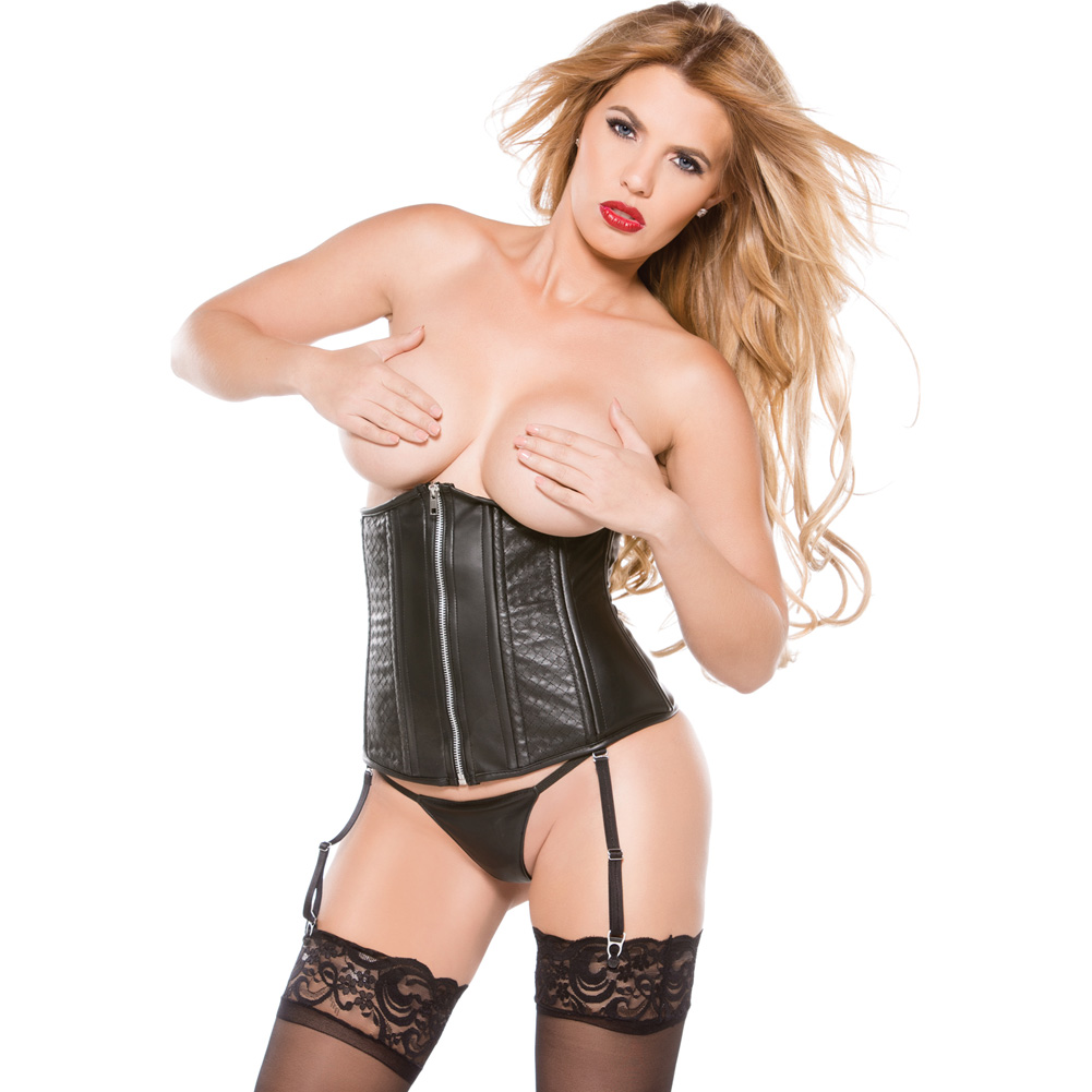 Faux Leather Cincher Black Extra Large - View #1