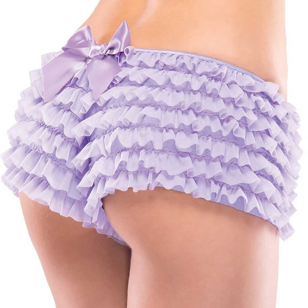 Ruffle Shorts with Back Bow Detail Lilac One Size - View #1