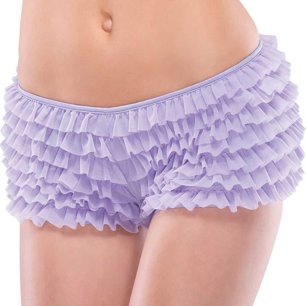 Ruffle Shorts with Back Bow Detail Lilac One Size Extra Large - View #2