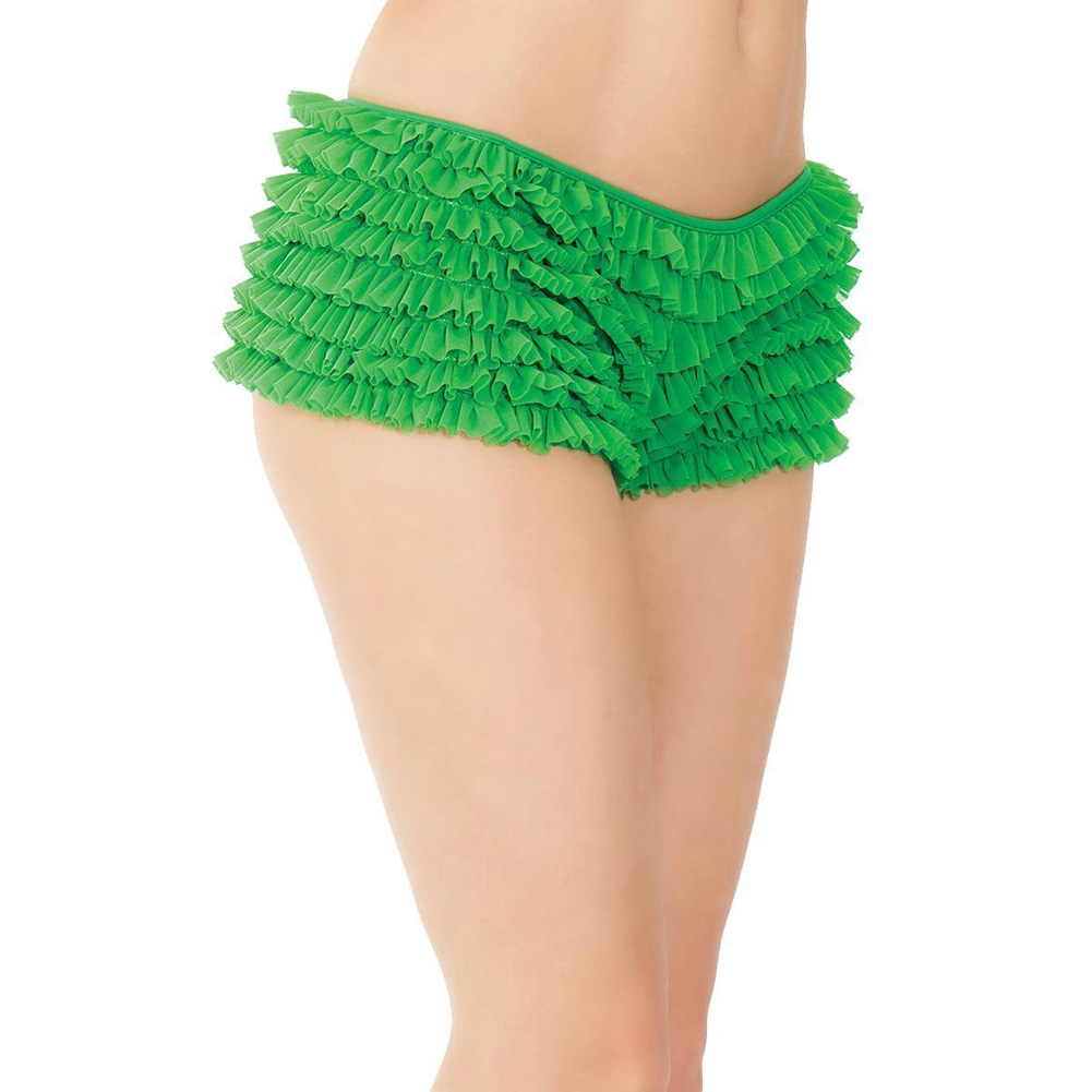 Ruffle Shorts with Back Bow Detail Green One Size - View #4