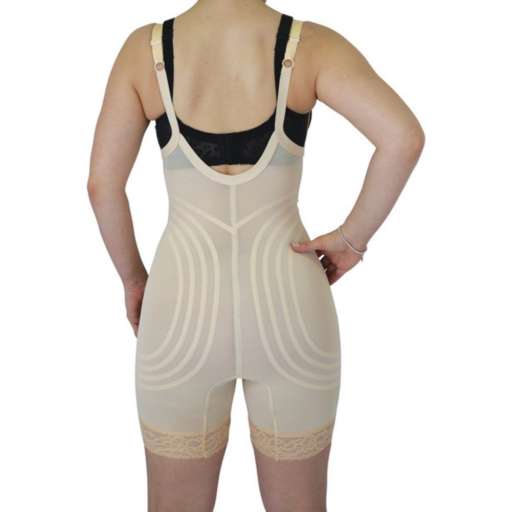 Rago Shapewear Wear Your Own Bra Body Shaper Beige Medium - View #2