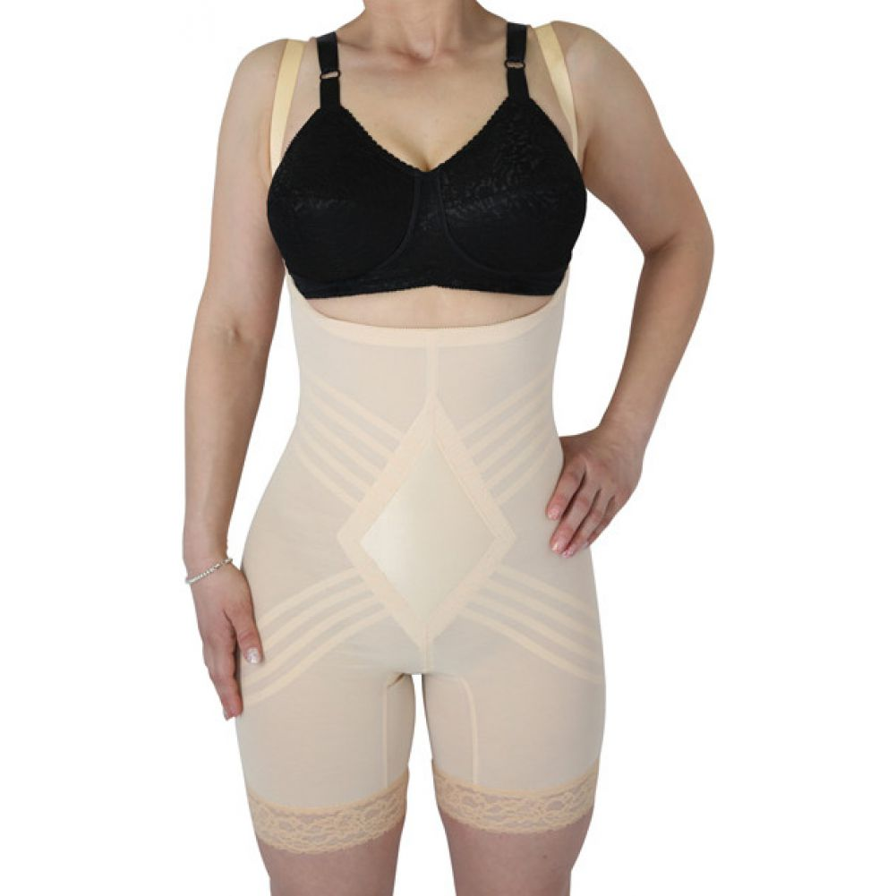 Rago Shapewear Wear Your Own Bra Body Shaper Beige Large - View #1